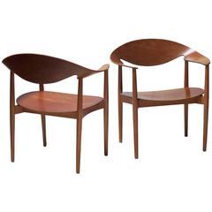 Pair of Metropolitan Chairs by Ejner Larsen and Axel Bender Madsen