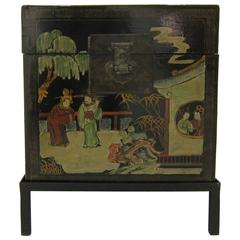 Chinoiserie Painted Box Side Table