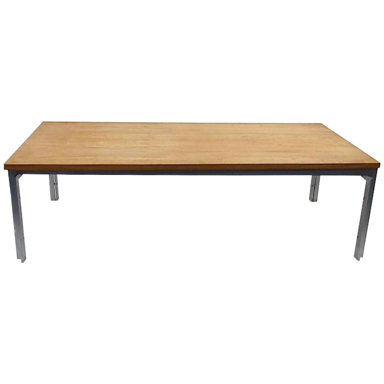Rare pk59 Coffee Table with Unique Teakwood Top For Sale