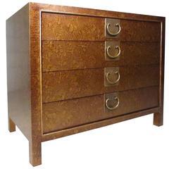 Mid-Century Four-Drawer Mastercraft Style Dresser
