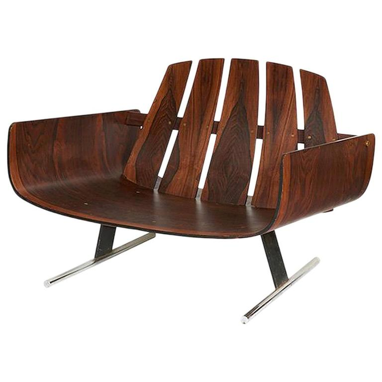 Brazilian Rosewood Lounge Chair by Jorge Zalszupin