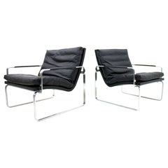Pair of Danish Lounge Chairs by Jørgen Lund & Ole Larsen for Bo-Ex