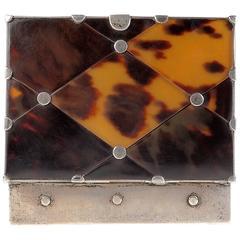 William Spratling Diamond Pattern Tortoise Shell Box of Two
