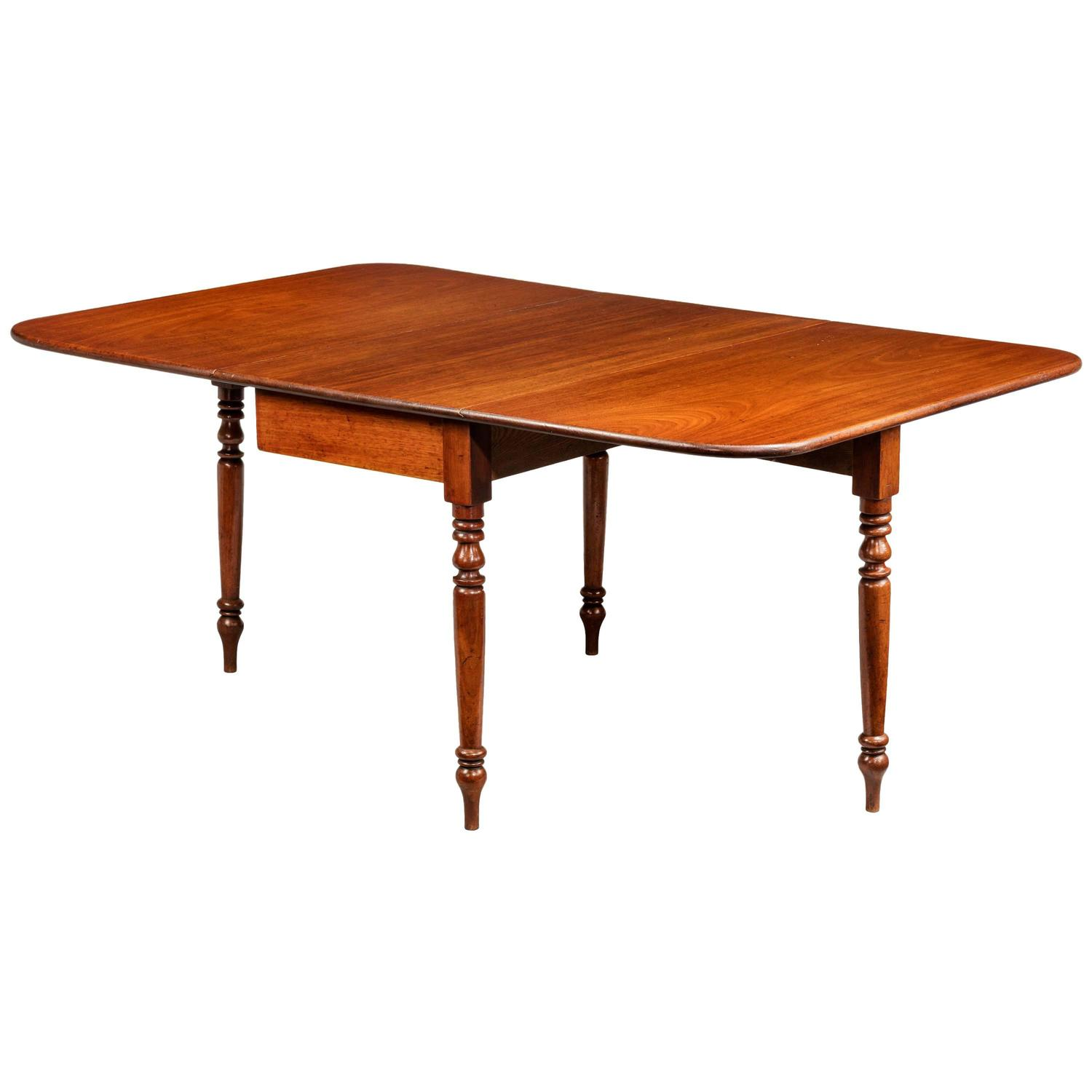Regency period drop leaf dining table for sale at 1stdibs for 3 leaf dining room tables