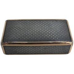 Continental Niello and Silver Gilt Snuff Box, Early 19th Century