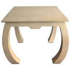 Shagreen Leather Table by Enrique Garcel