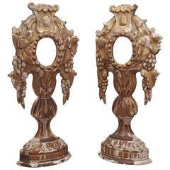 Pair of 18th Century Carved and Gilded Reliquaries