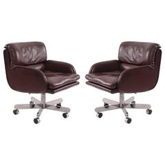 Roger Sprunger for Dunbar Leather Office Chairs