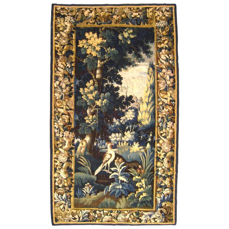 Antique 18th Century Flemish Verdure Tapestry {from Ralph Lauren window display}