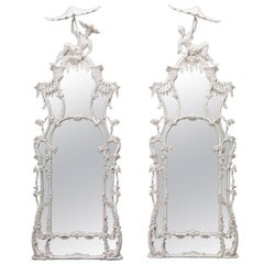 Pair of Pagoda Pier Mirrors