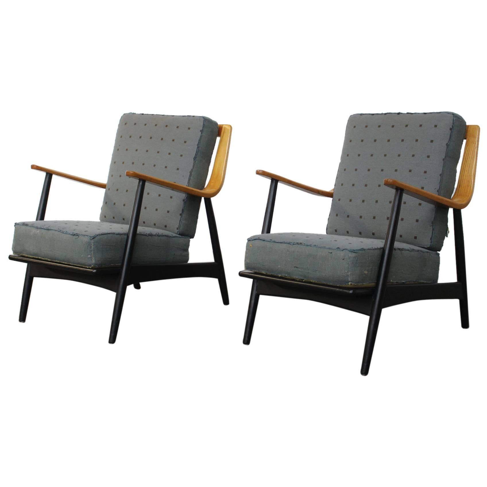 Pair of Easy Chairs, Peter Hvidt and Orla Mølgaard-Nielsen