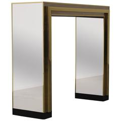 Mirrored Glass Wall Console by Maison Jansen