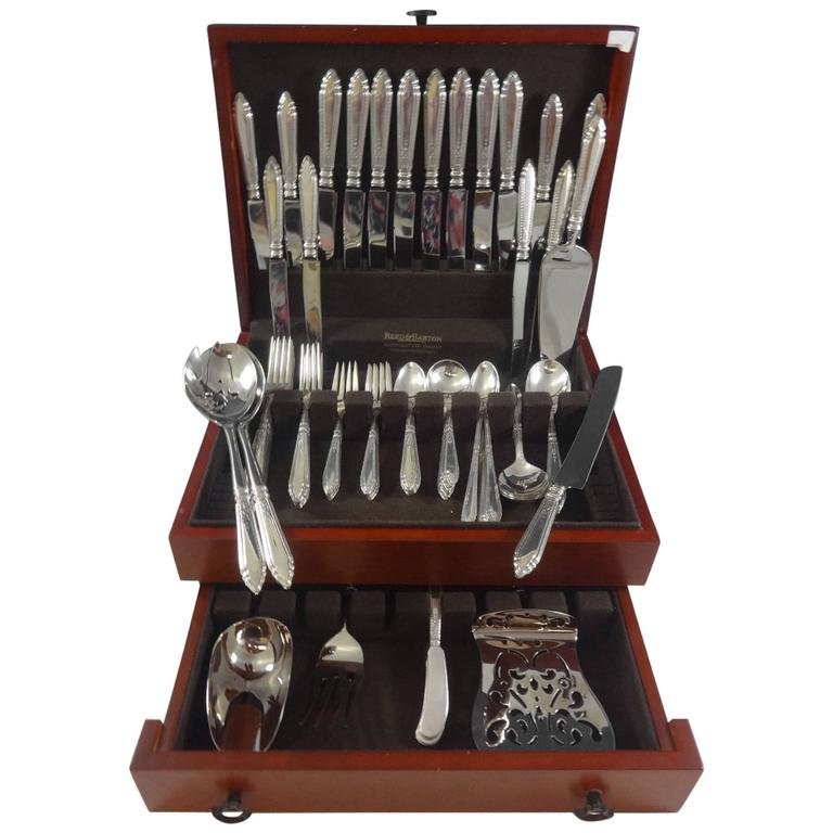 Oxford by Reed & Barton Sterling Silver Flatware Set for Eight Service 87 Pieces