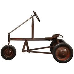 American Vintage, Antique Child's Pedal Tricycle Metal Toy
