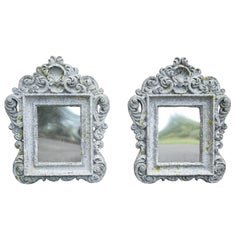 Unusual Pair of Cast Cement Frames
