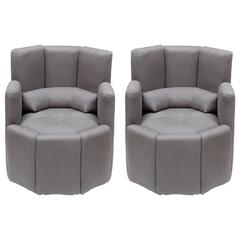 Mid-Century Modern Bucket Corbeau Chairs