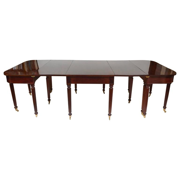 Scale Sheraton Period Solid Mahogany Extending