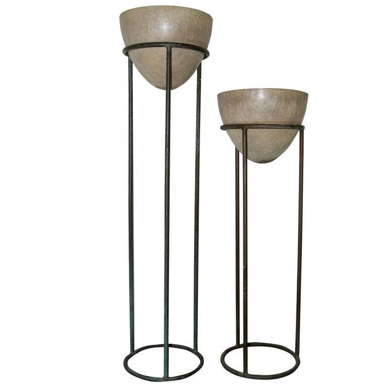 Walter Lamb Bronze Plant Stands For Sale