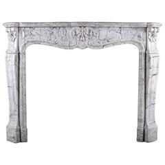 Antique Louis XV Rococo Fireplace Mantel, circa 1870