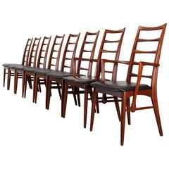 """Set of Walnut Tall """"Lis"""" Dining Chairs by Niels O. Moller for Koefoeds Hornslet"""