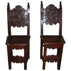Pair of 17th Century French Chairs