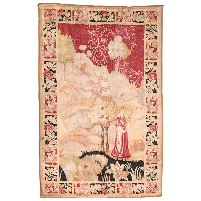 Large Late 18th Century French Aubusson Wall Tapestry