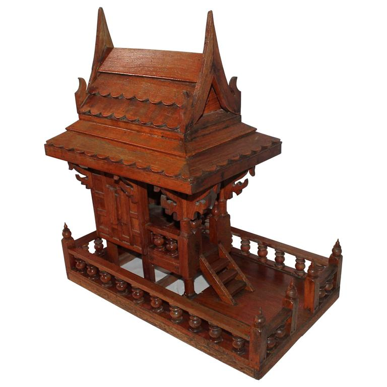 Arts & Crafts Folk Art Thai Style Boat House