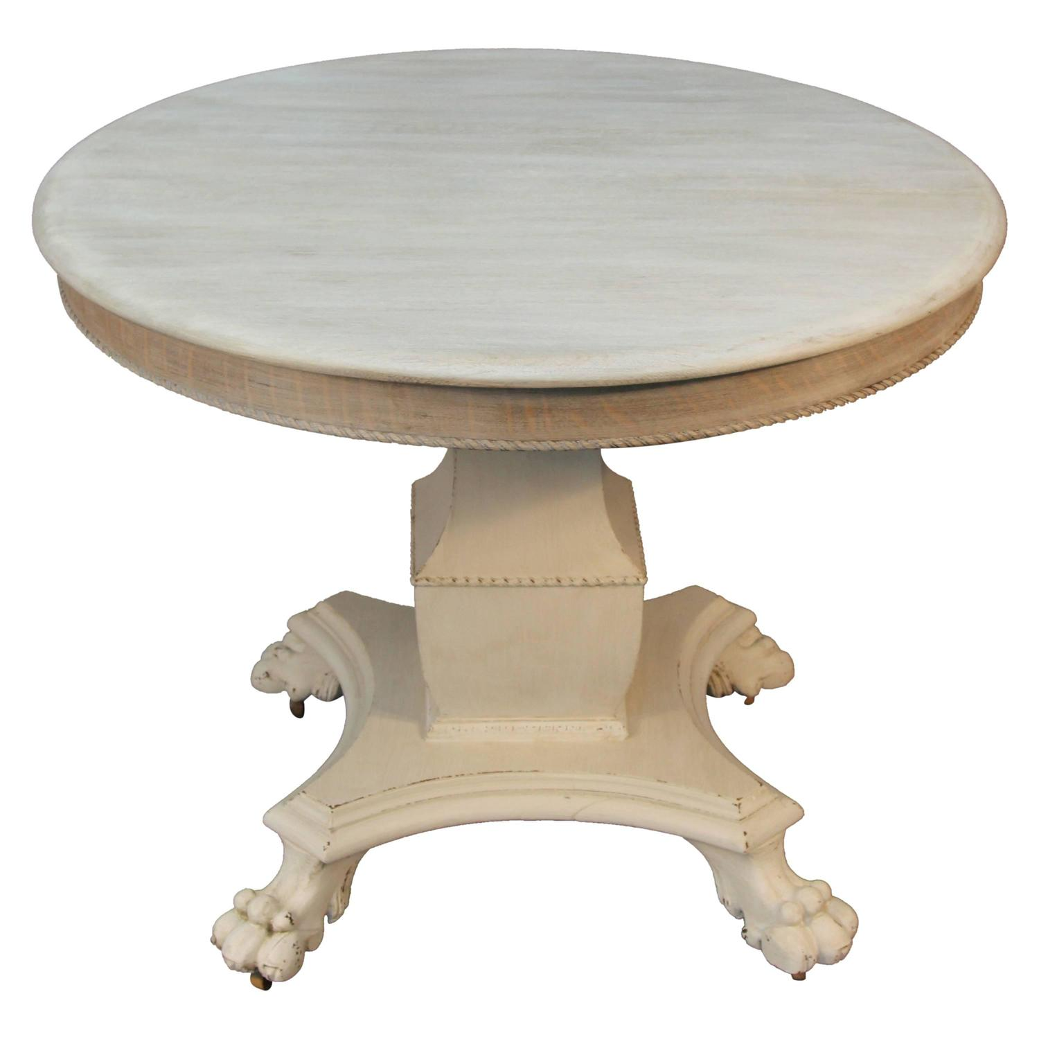 Round French Empire Style Dining Table At 1stdibs