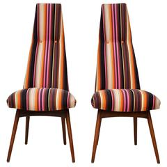 Pair of Mid-Century Modern Adrian Pearsall Tall Back Dining Chairs