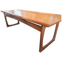 Huge 1960s Danish Teak Coffee Table