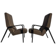 Exceptionally Comfortable Thonet Style High Back Lounge Chairs