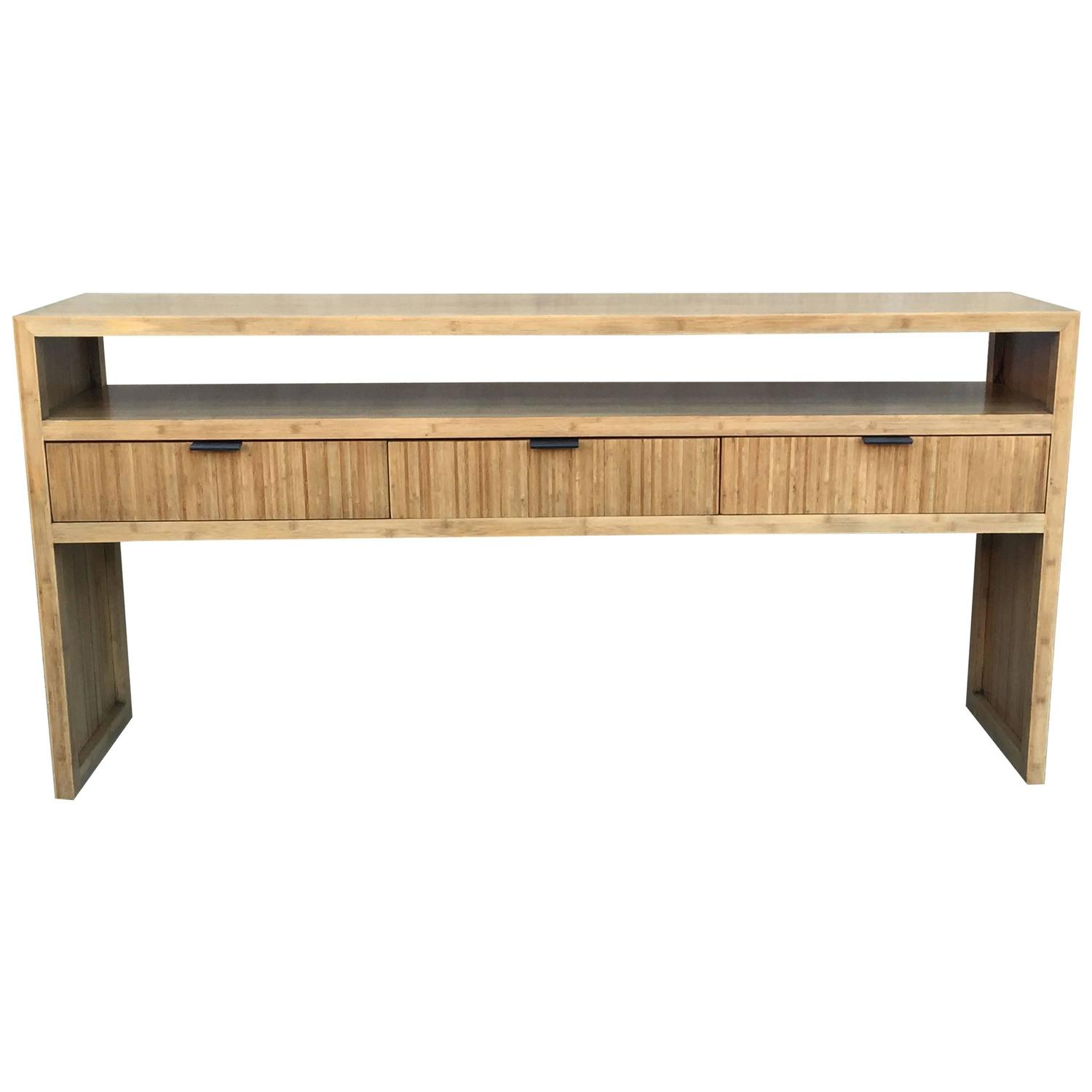 Solid bamboo console or sofa table at 1stdibs for Sofa table unfinished