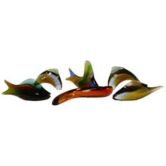 Set of Six Exbor Glass Fish