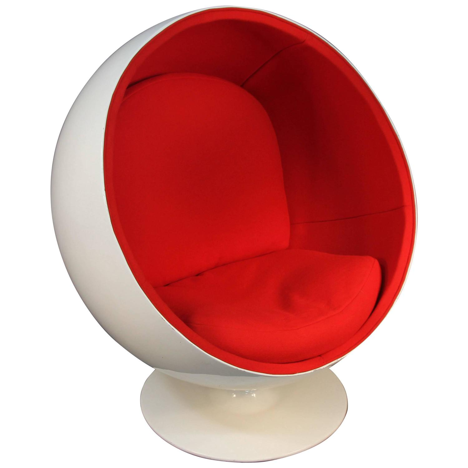 eero aarnio ball chair newly upholstered 1960s at 1stdibs. Black Bedroom Furniture Sets. Home Design Ideas