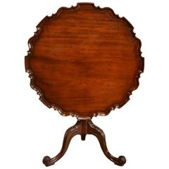 18th Century Mahogany Piecrust Tripod Table