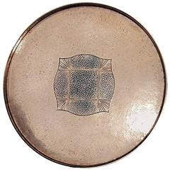 W.M.F Copper Arts and Crafts Hammered Tray, Germany, circa 1900