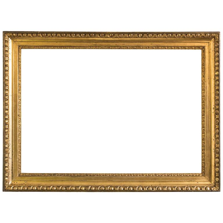 Golden biedermeier frame egg and dart austria circa 1825 for Large a frame