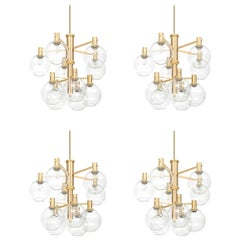 Set of Four Big Ceiling Lamps in the Manner of Hans-Agne Jakobsson