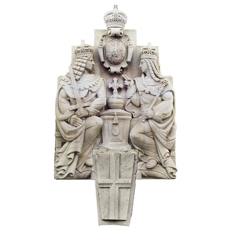 Esmond Burton Portland Stone Sculpture from the Bank of England Annexe For Sale
