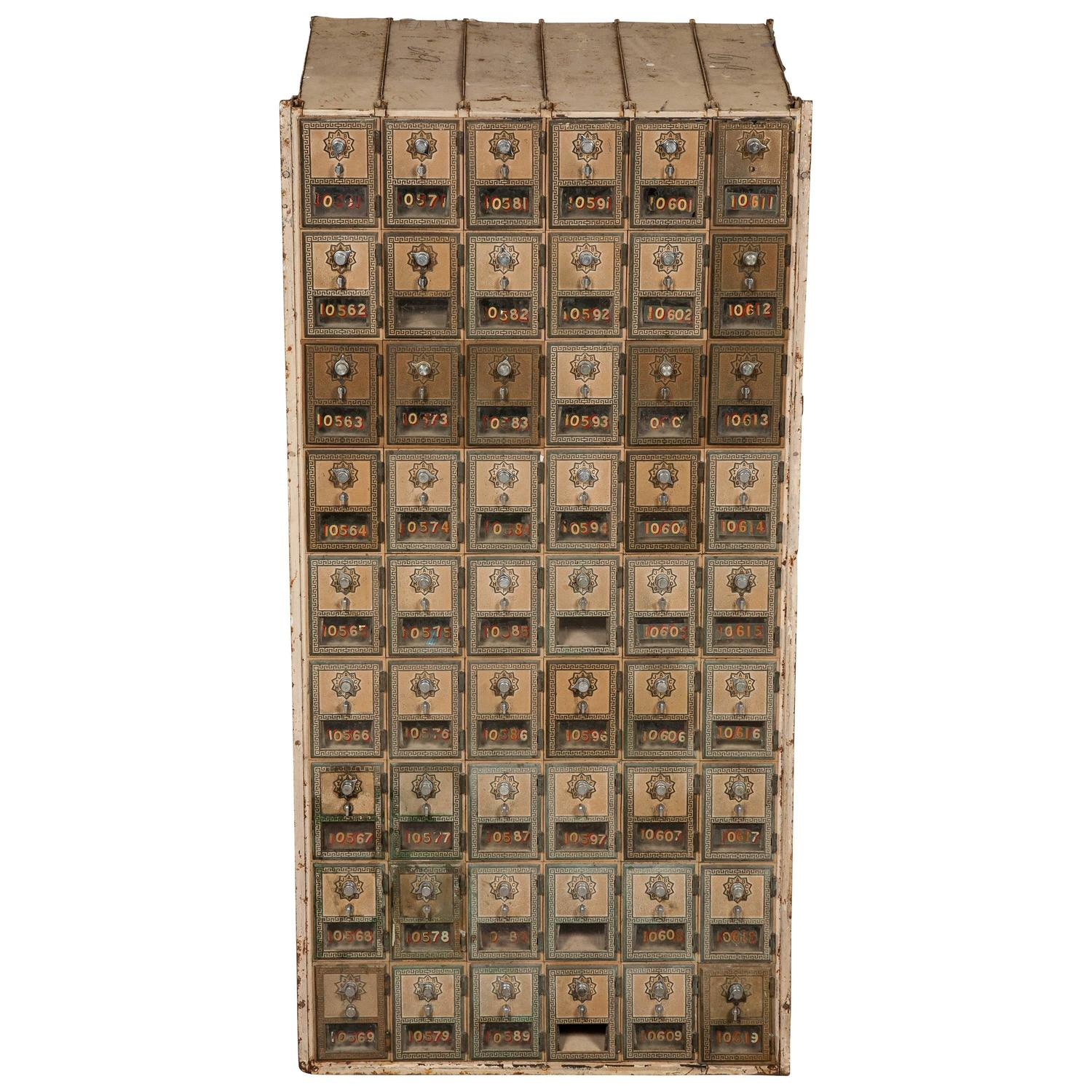 Antique Furniture Supplies Mail: Antique US Post Office Mail Boxes At 1stdibs