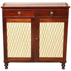 English Regency, Cabinet with Two Drawers and Grill Doors