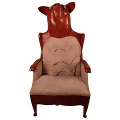 Completely Wack Red Pig Chair