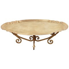 Hollywood Regency 1970s Brass Tray Table by Baker