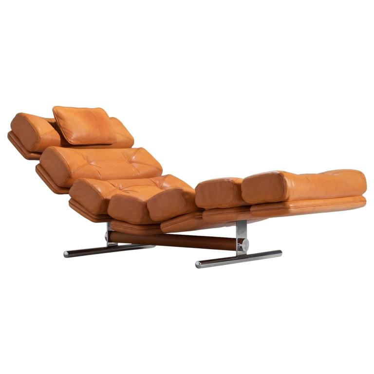 Extremely rare lounge chair in leather by gervan belgium - Chaise eames belgique ...