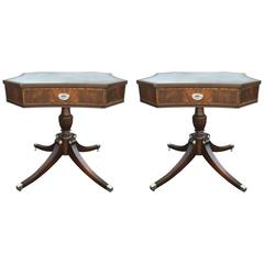 Pair of Octagonal End Tables