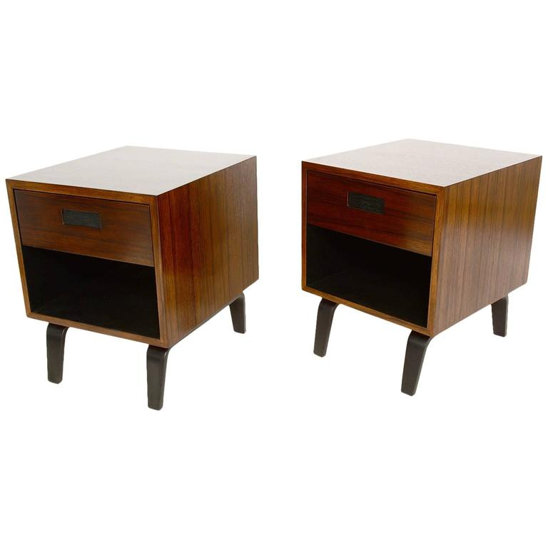 Mid century modern nightstands by clifford pascoe at 1stdibs for Modern nightstands for sale