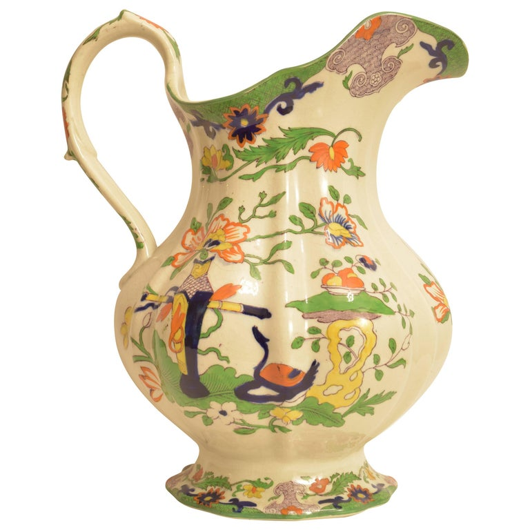 Large Mason's Ironstone Pitcher For Sale