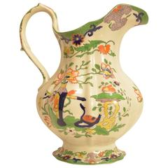 Large Mason's Ironstone Pitcher