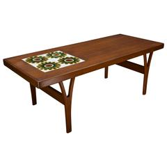 Alan Wallwork Ceramic Tile Trioh Teak Table