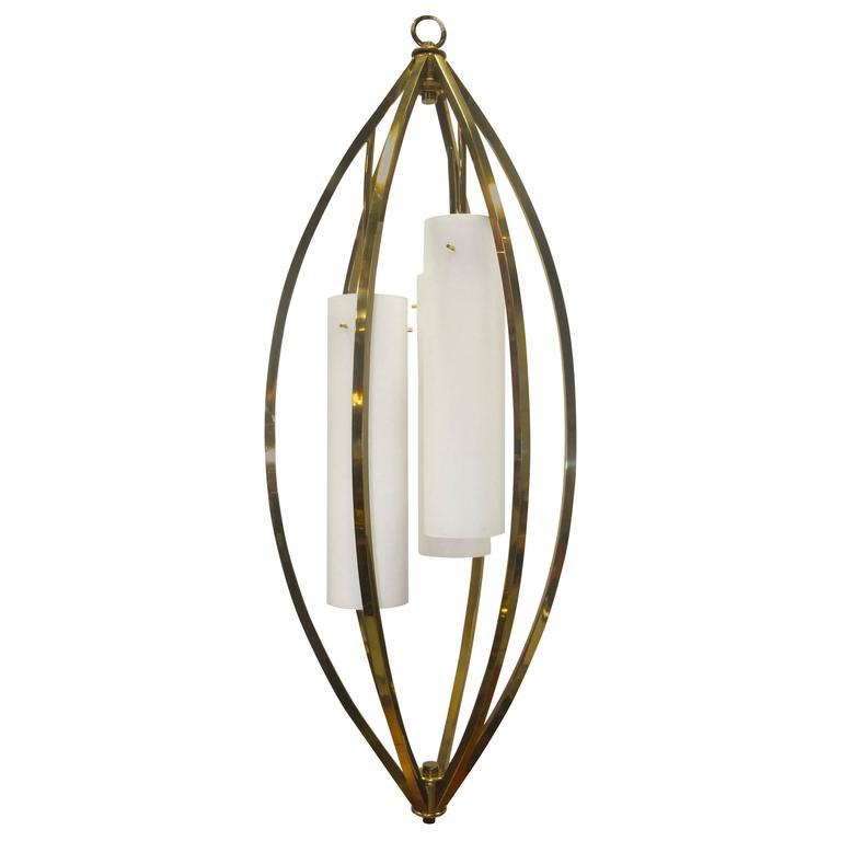 1960s Brass Birdcage Pendant
